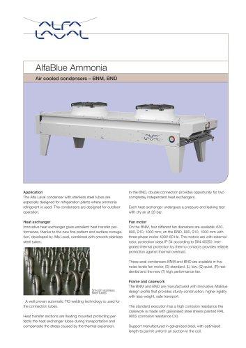 AlfaBlue Ammonia - Air cooled condensers – BNM, BND