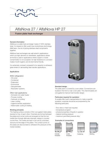 AlfaNova 27 / AlfaNova HP 27