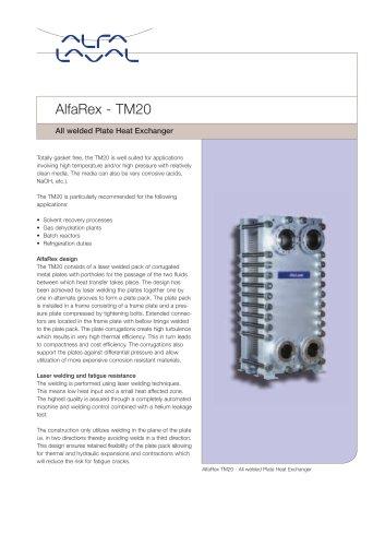 AlfaRex - TM20