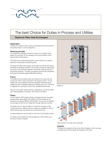 BaseLine - Plate Heat Exchangers
