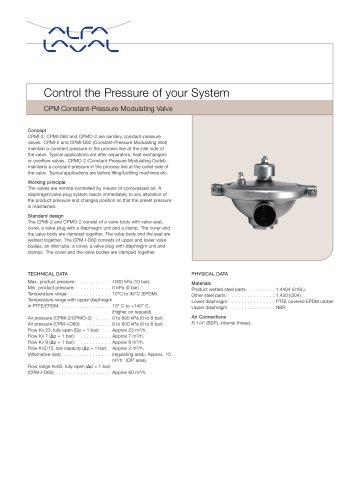 CPM Constant-Pressure Modulating Valve