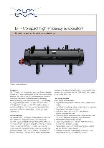 EF - Compact high efficiency evaporator
