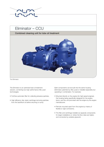 Eminator/Combined Cleaning Unit (CCU)
