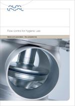 Flow control for hygienic use - Valves and automation - the complete line