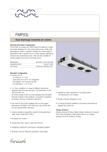 FMP(G) - Dual discharge industrial air coolers
