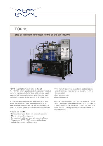 FOX15 Slop oil treatment module