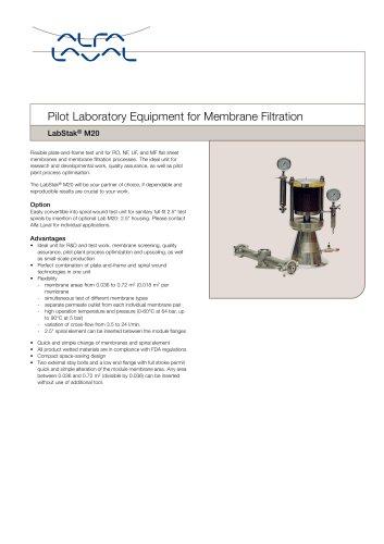 LabStak® for membrane filtration M20