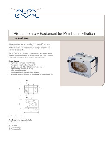 LabStak® for membrane filtration M10