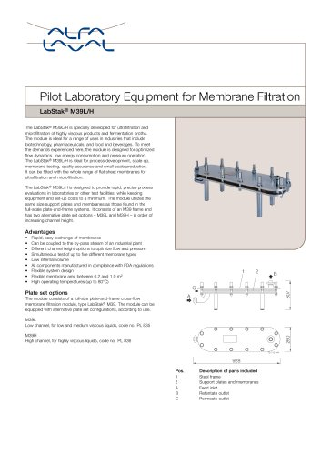 LabStak for membrane filtration M39L-H