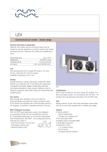LEX - commercial air cooler (stock range)