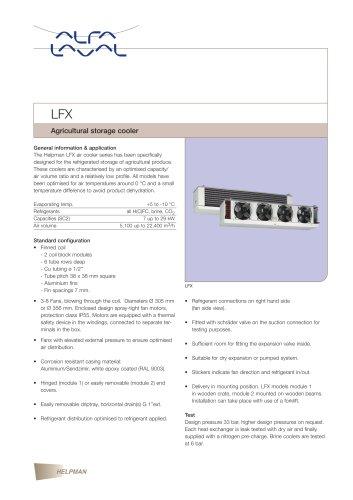 LFX - Agricultural storage cooler