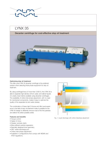 LYNX - Drilling mud decanter - LYNX 35