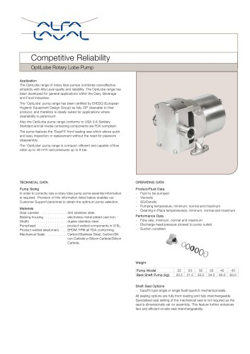 OptiLobe Rotary Lobe Pump