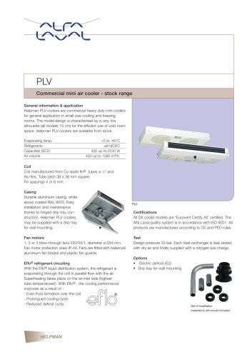 PLV - Commercial mini air cooler - stock range