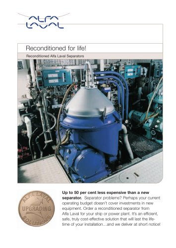 Reconditioned Alfa Laval separators