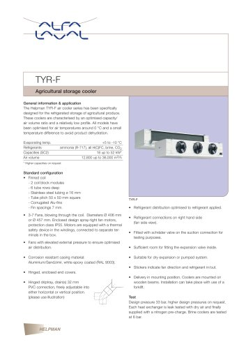 TYR-F - Agricultural storage cooler