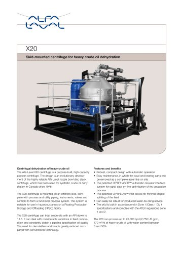 X20 For produced water de-oiling