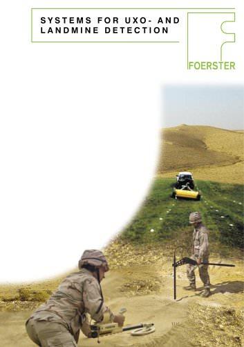 Landmine and UXO detection brochure