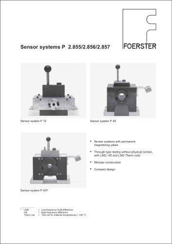 Sensor system P leaflet