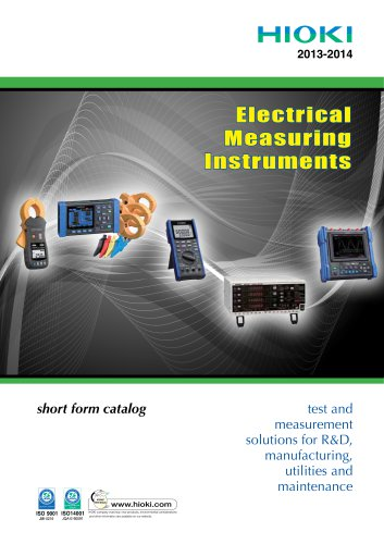 Electrical Measuring Instruments - Short Form