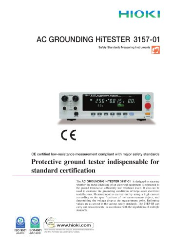 HIOKI 3157-01 AC GROUNDING HiTESTER