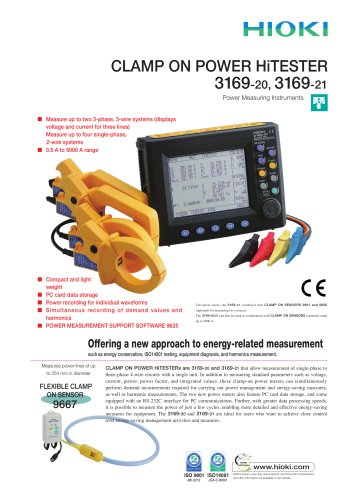 HIOKI 3169-20/3169-21 Clamp On Power HiTESTER