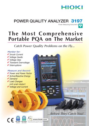 HIOKI 3197 Power Quality Analyzer