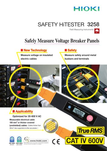 HIOKI 3258 Safety HiTESTER