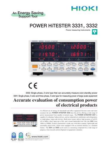 HIOKI 3331 and 3332 Power HiTESTER