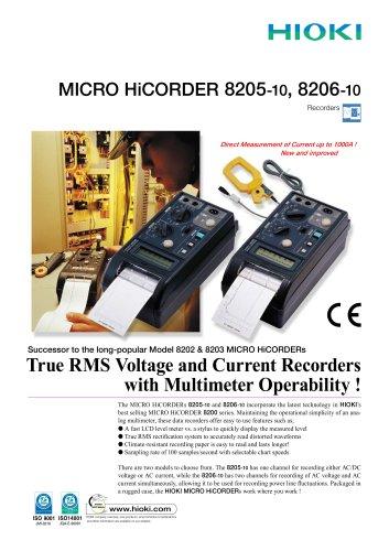 HIOKI 8205-10/8206-10 MICRO HiCORDER
