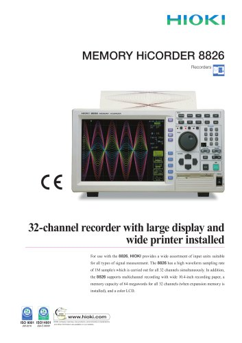 HIOKI 8826 MEMORY HiCORDER