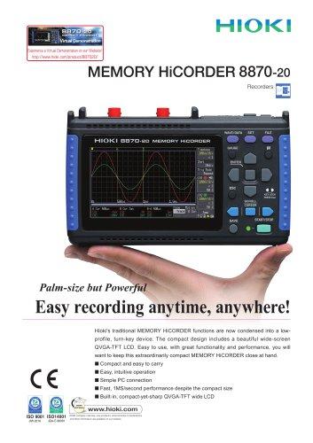HIOKI 8870-20 MEMORY HiCORDER