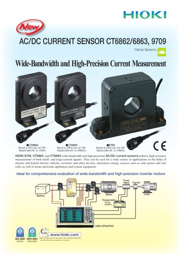 HIOKI CT6862/CT6863/9709 AC/DC Current Sensors