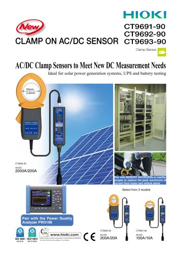 HIOKI CT969X-90 AC/DC Clamp On Sensor Series