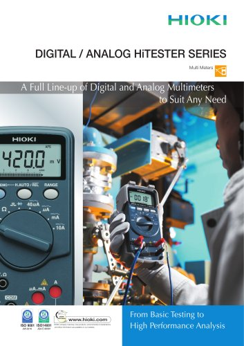 HIOKI Digital HiTESTER Series