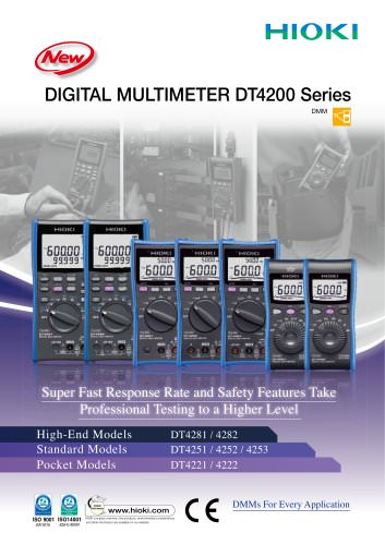 HIOKI DT4200 Series Digital Multimeters