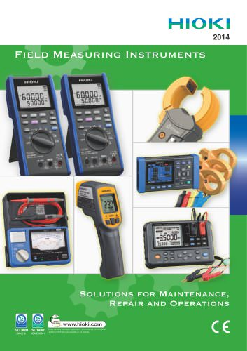 HIOKI Field Measuring Instruments catalog (2014)