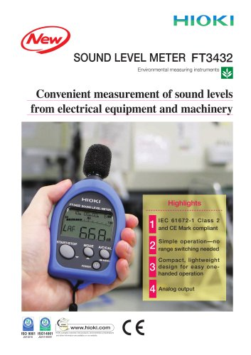 HIOKI FT3432 Sound Level Meter