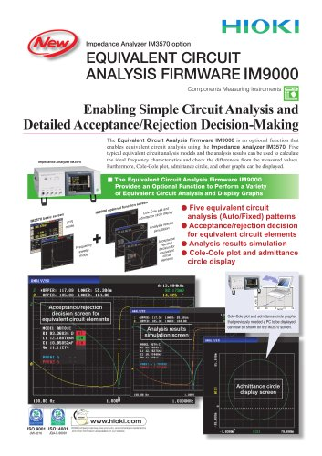 HIOKI IM9000 Equivalent Circuit Analysis Software