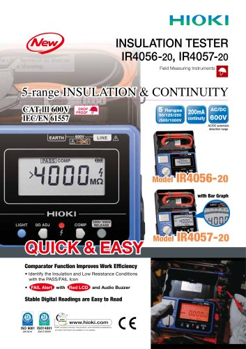 HIOKI IR4056-20/IR4057-20 Insulation Testers