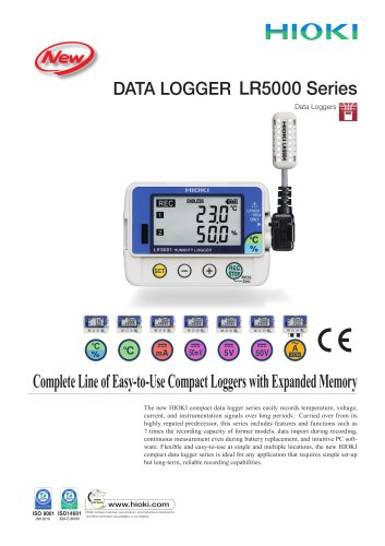 HIOKI LR5000 Data Logger Series