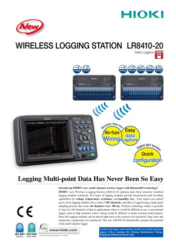 HIOKI LR8410-20 Wireless Logging Station