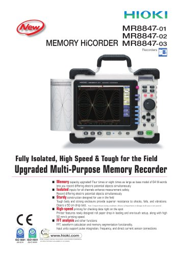 HIOKI MR8847 MEMORY HiCORDER Series