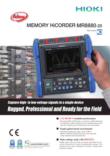 HIOKI MR8880-20 MEMORY HiCORDER