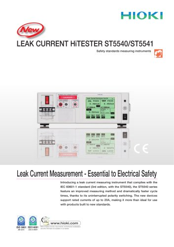 HIOKI ST5540/ST5541 LEAK CURRENT HiTESTER