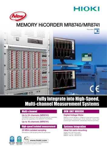MEMORY HiCORDER MR8740, MR8741