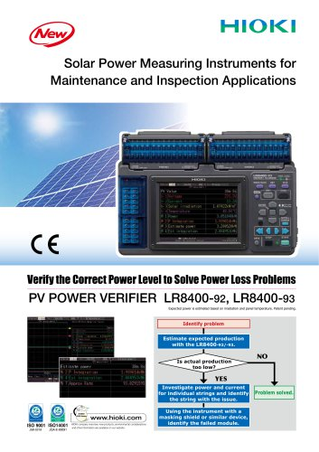 PV POWER VERIFIER LR8400-92/-93