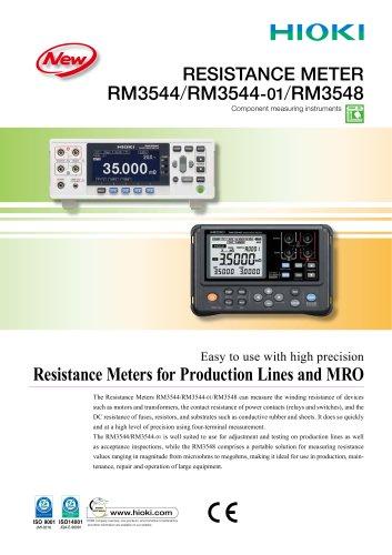 RM3544/RM3548 RESISTANCE METER