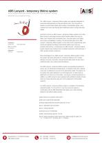 ABS Lanyard - temporary lifeline system - 1