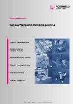 Die clamping and changing systems